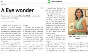 Dr Monika News Article