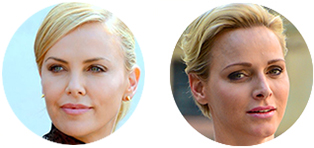 princess charlene and charlize theron